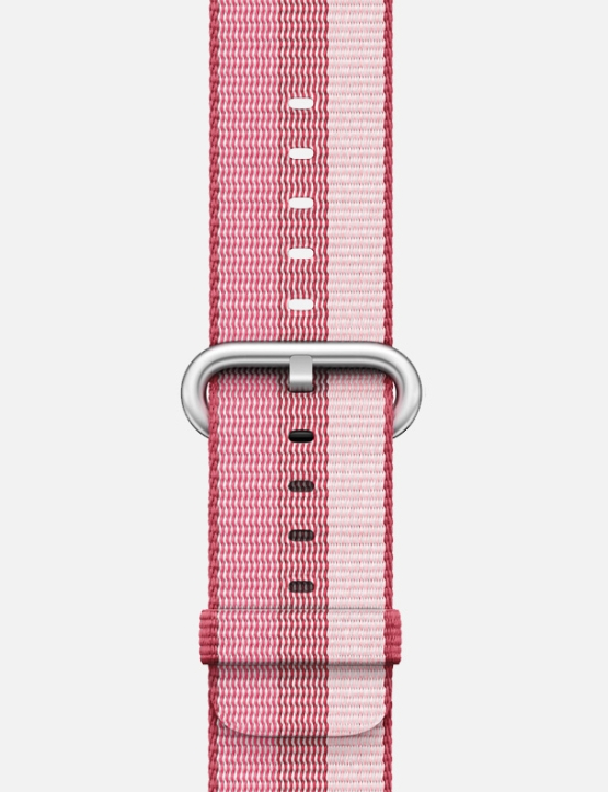 Triple Berry Stripe Woven Nylon Apple Watch Strap
