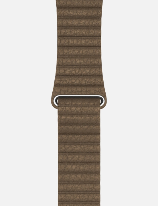 BrownWsC Leather Loop Apple Watch Strap Without Face
