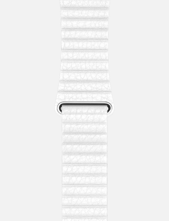 White WsC Leather Loop Apple Watch Strap Without Face