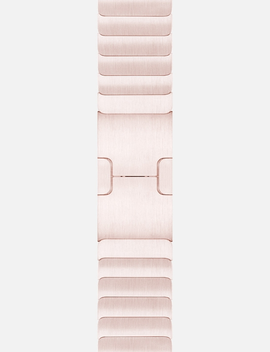 Rose Gold Link Bracelet Apple Watch Strap Without Face