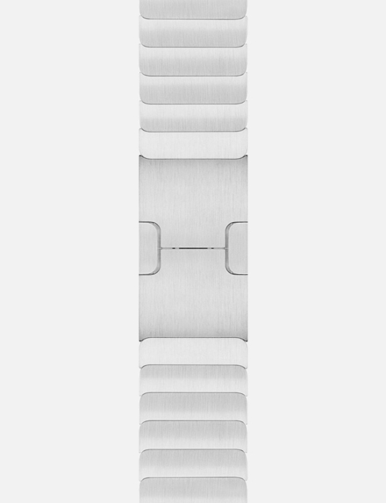 Silver Link Bracelet Apple Watch Strap Without Face