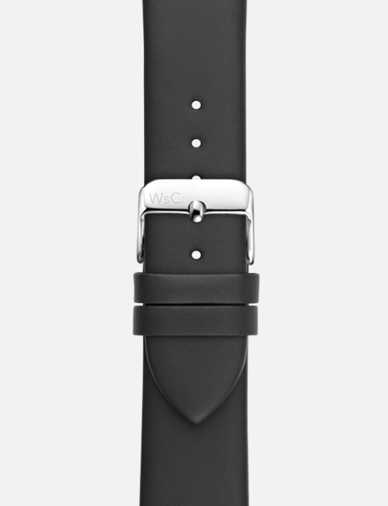 Black WsC Oxford Apple Watch Strap Without Face