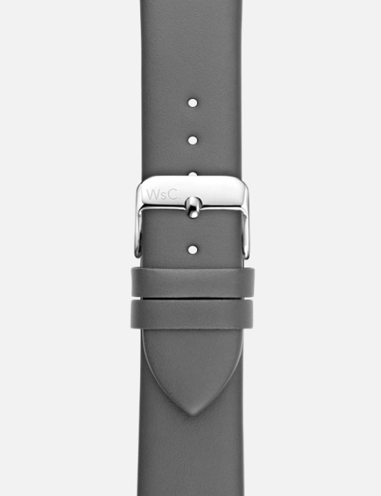 Grey WsC Oxford Apple Watch Strap Without Face