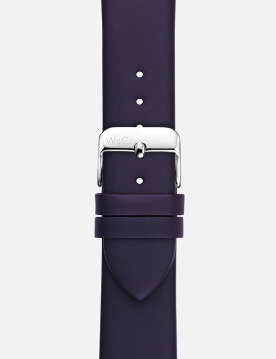 Purple WsC Oxford Apple Watch Strap Without Face