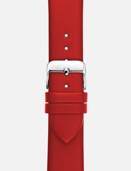 Red WsC Oxford Apple Watch Strap Without Face