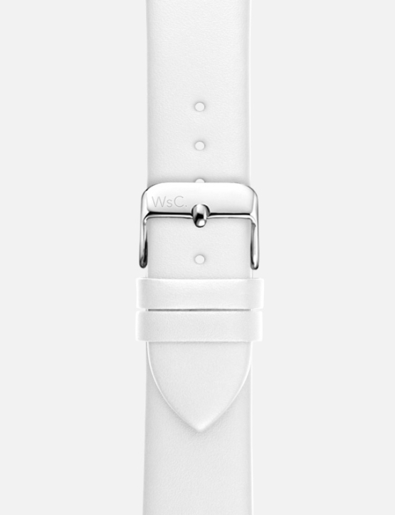 White WsC Oxford Apple Watch Strap Without Face