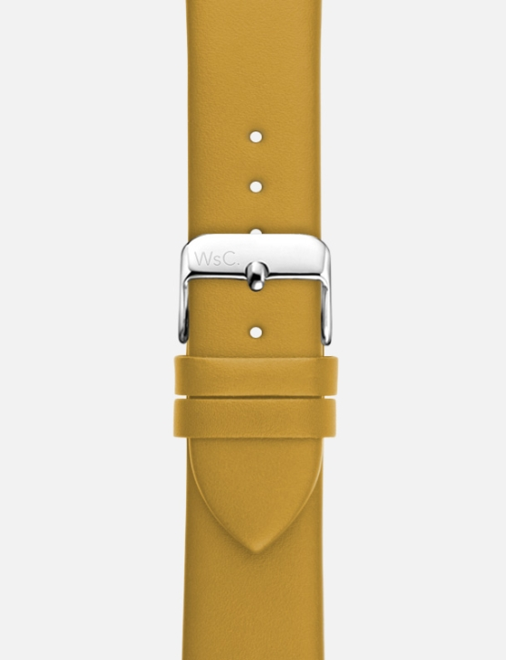 Yellow-WsC Oxford Apple Watch Strap Without Face