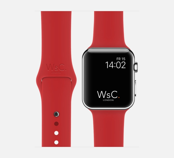 Apple Watch Sport Band Red
