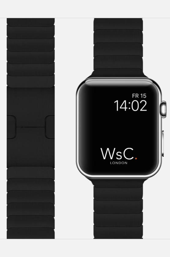 Black Apple Watch Link Bracelet