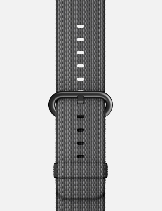 Black Grey Woven Nylon Apple Watch Strap