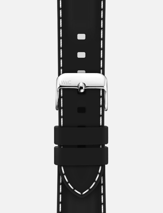 Black WsC Nautilus Apple Watch Strap Logo