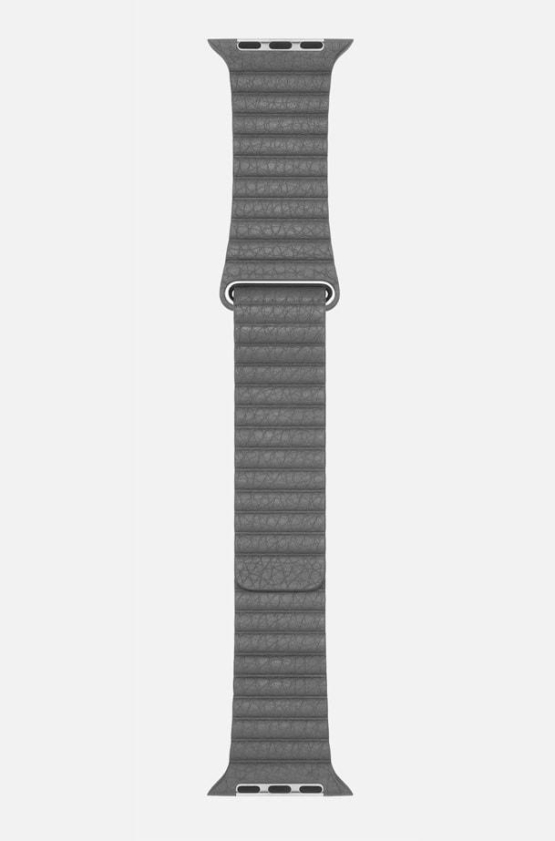 Grey WsC Leather Loop Apple Strap