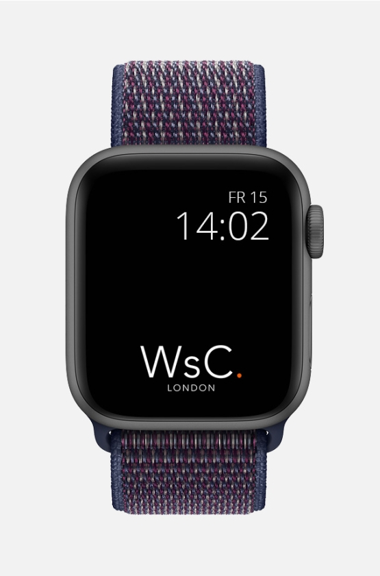 Nylon Velcro Sport Loop Apple Watch Strap Indigo Front