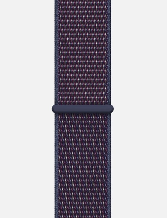 Nylon Velcro Sport Loop Apple Watch Strap Indigo