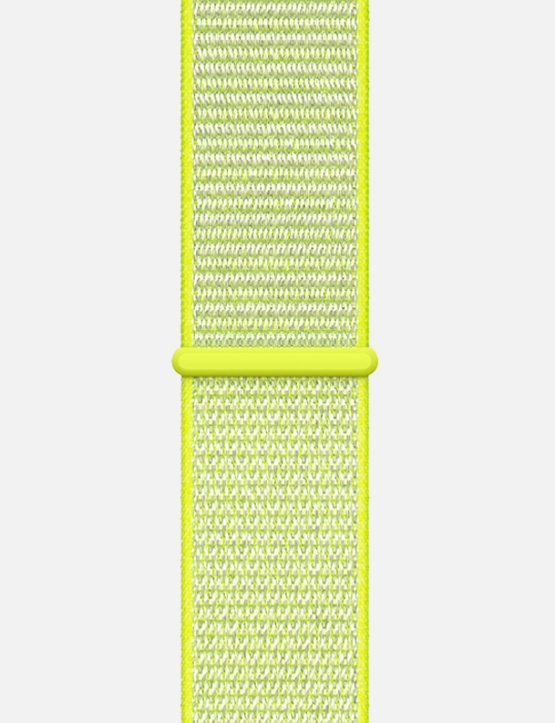 Nylon Velcro Sport Loop Apple Watch Strap Marathon Yellow