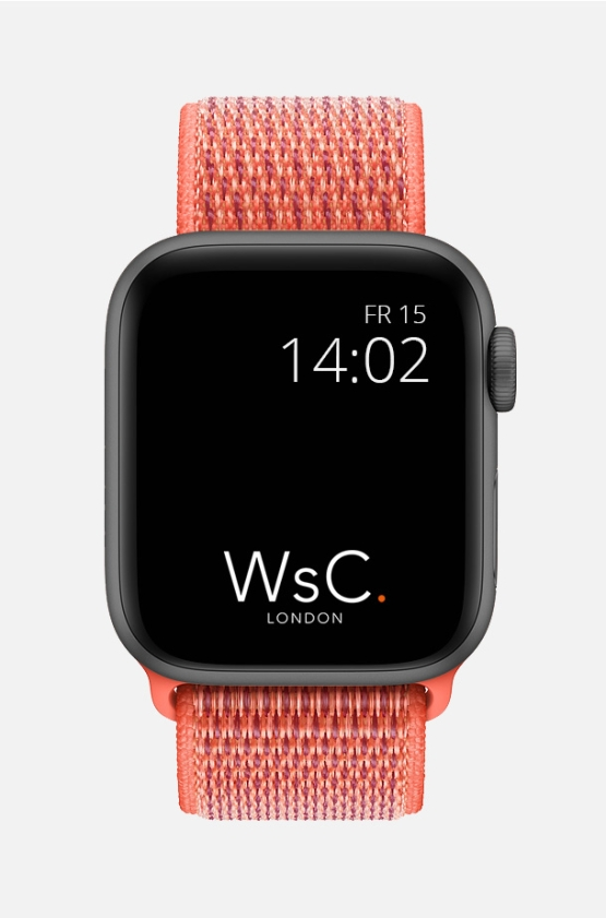 Nylon Velcro Sport Loop Apple Watch Strap Tangerine Front