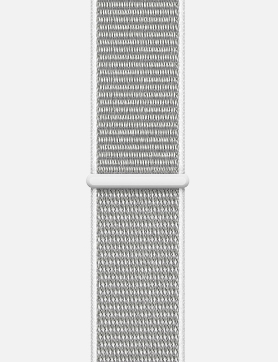 Nylon Velcro Sport Loop Apple Watch Strap White and Grey