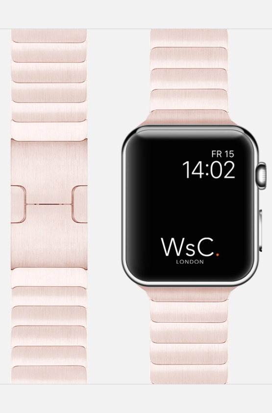 Rose Gold Apple Watch Link Bracelet