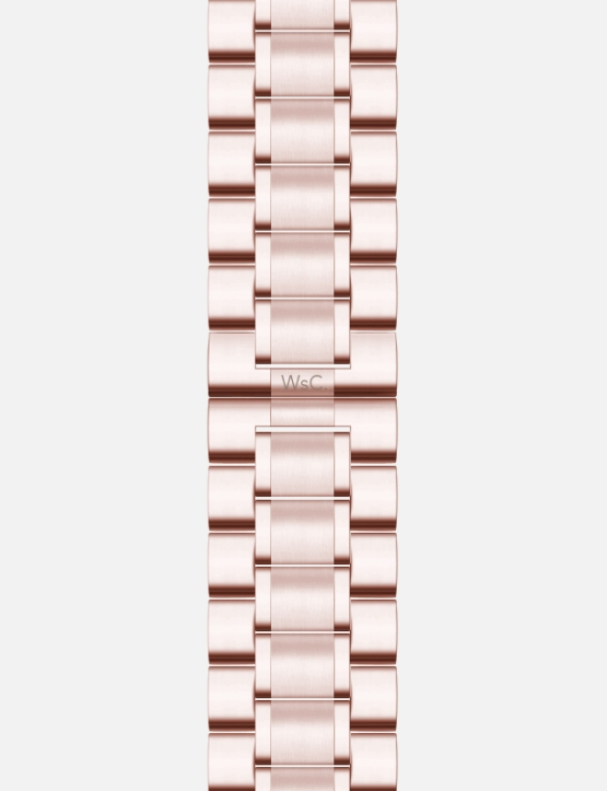Rose Gold WsC Fury Apple Watch Strap Without Face