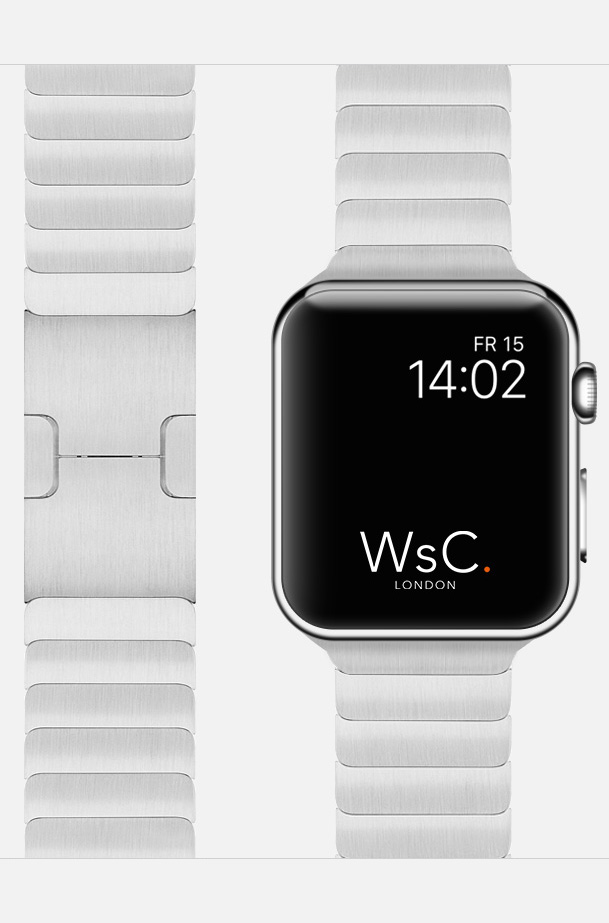 Silver Apple Watch Link Bracelet