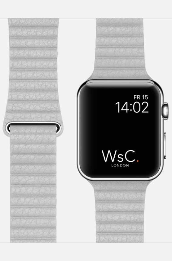 Stone WsC Leather Loop Apple Strap Face