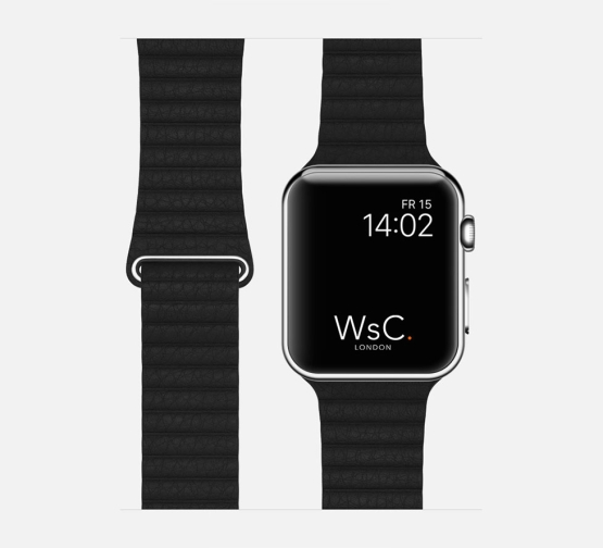 WsC Leather Loop Strap Black