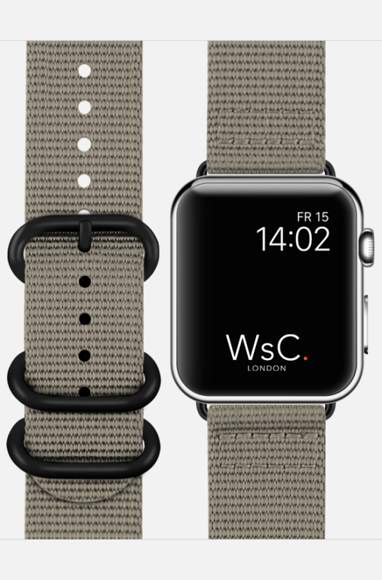 WsC NATO Apple Watch Strap Grey Face