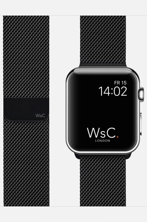 Apple Watch Mesh Loop Black