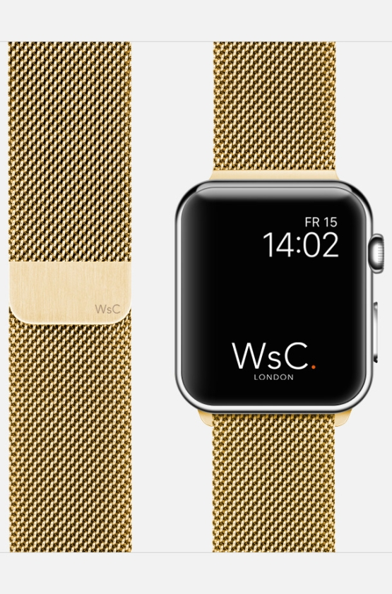 Apple Watch Mesh Loop Gold