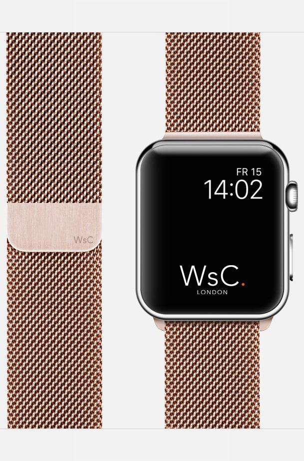 Apple Watch Mesh Loop Rose Gold