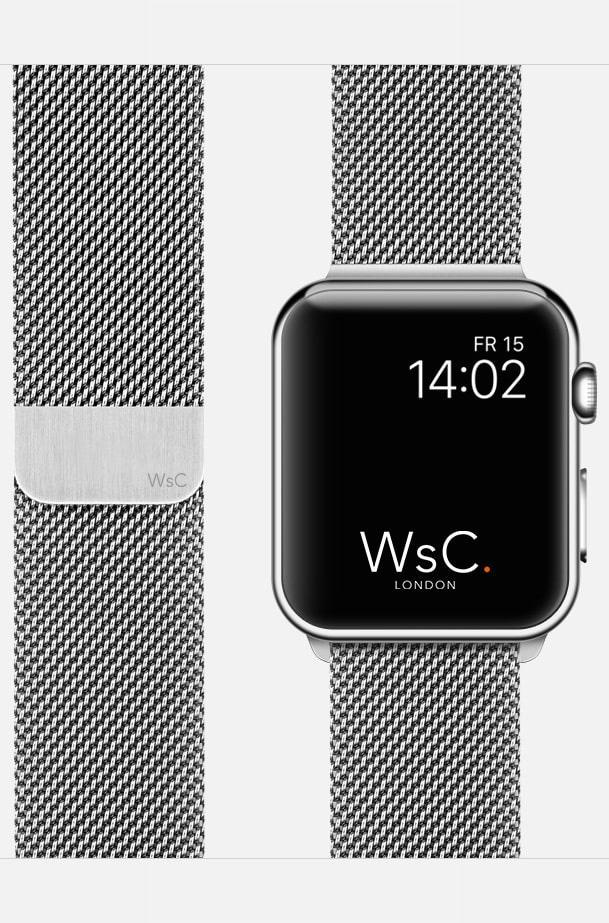 Apple Watch Mesh Loop Silver