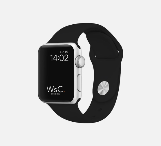 Apple Watch Sport Band Black Round