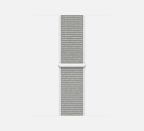 Apple Watch Sport Loop White Close Up