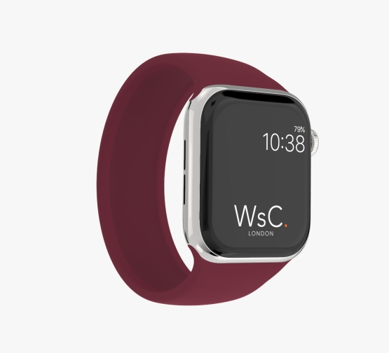 Silicone Solo Loop Apple Watch Burgundy