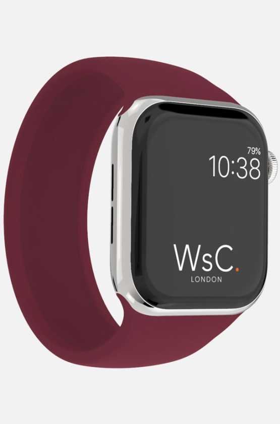 Silicone Solo Loop Apple Watch Burgundy Category