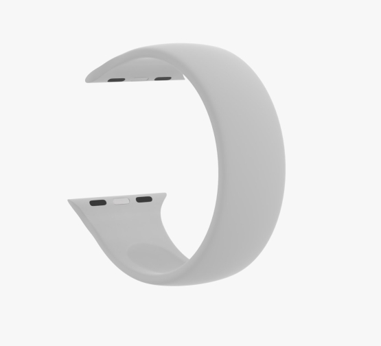 Silicone Solo Loop Apple Watch Grey Curved