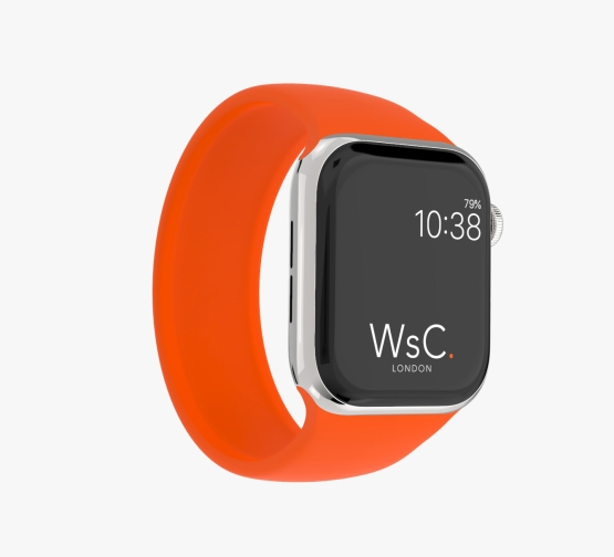 Silicone Solo Loop Apple Watch Orange