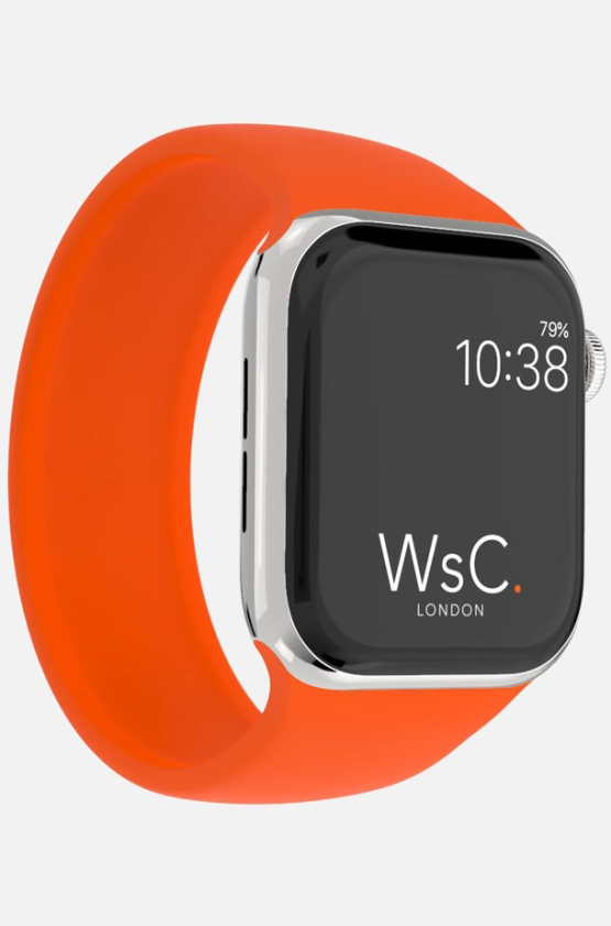 Silicone Solo Loop Apple Watch Orange Category