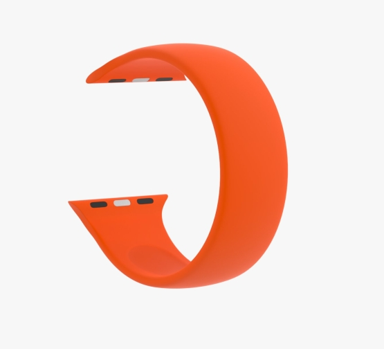 Silicone Solo Loop Apple Watch Orange Curved