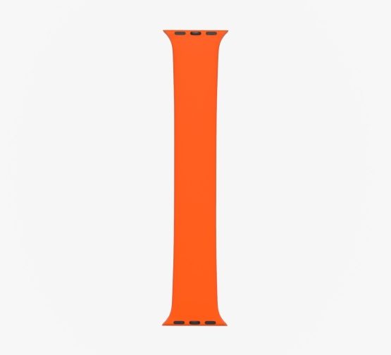 Silicone Solo Loop Apple Watch Orange Straight