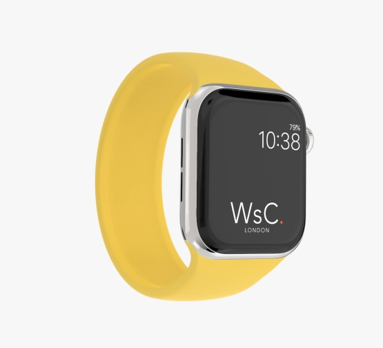 Silicone Solo Loop Apple Watch Yellow