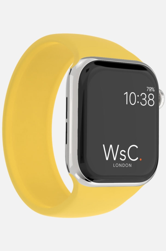 Silicone Solo Loop Apple Watch Yellow Category