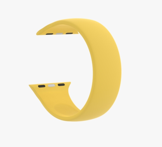 Silicone Solo Loop Apple Watch Yellow Curved