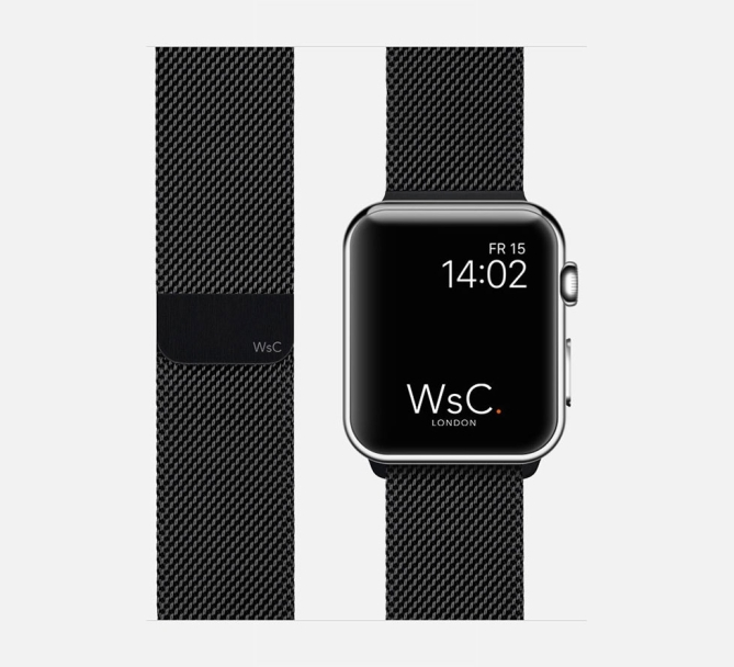 WSC Mesh Loop Apple Watch Strap Black