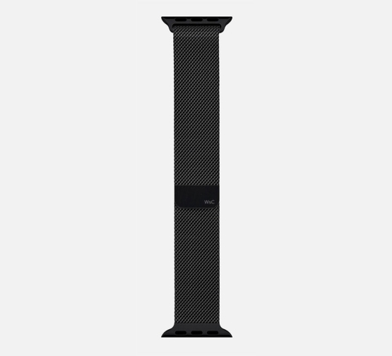 WSC Mesh Loop Apple Watch Strap Black Long