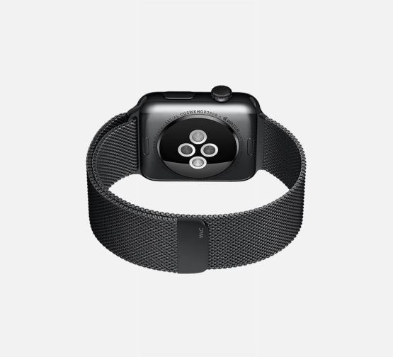 WSC Mesh Loop Apple Watch Strap Black Side