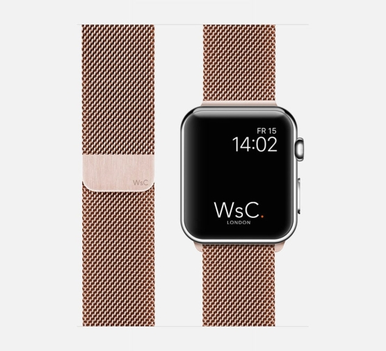 WSC Mesh Loop Apple Watch Strap Rose Gold