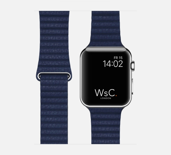 WsC Leather Loop Strap Blue