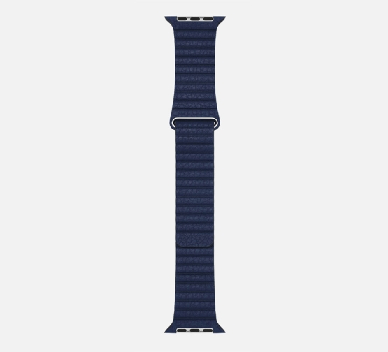 WsC Leather Loop Strap Blue Long