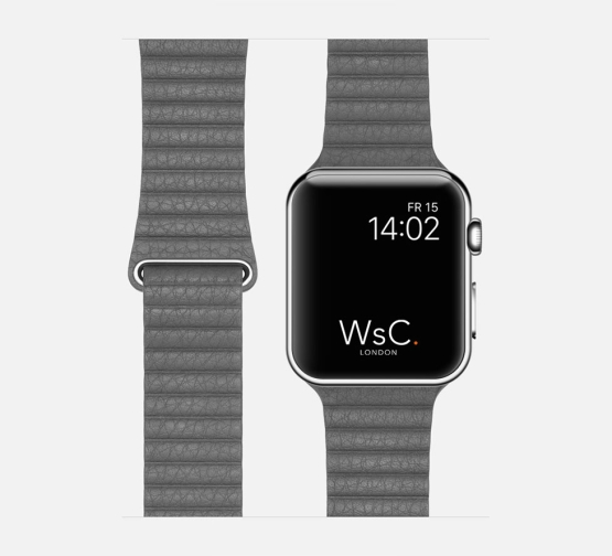 WsC Leather Loop Strap Grey